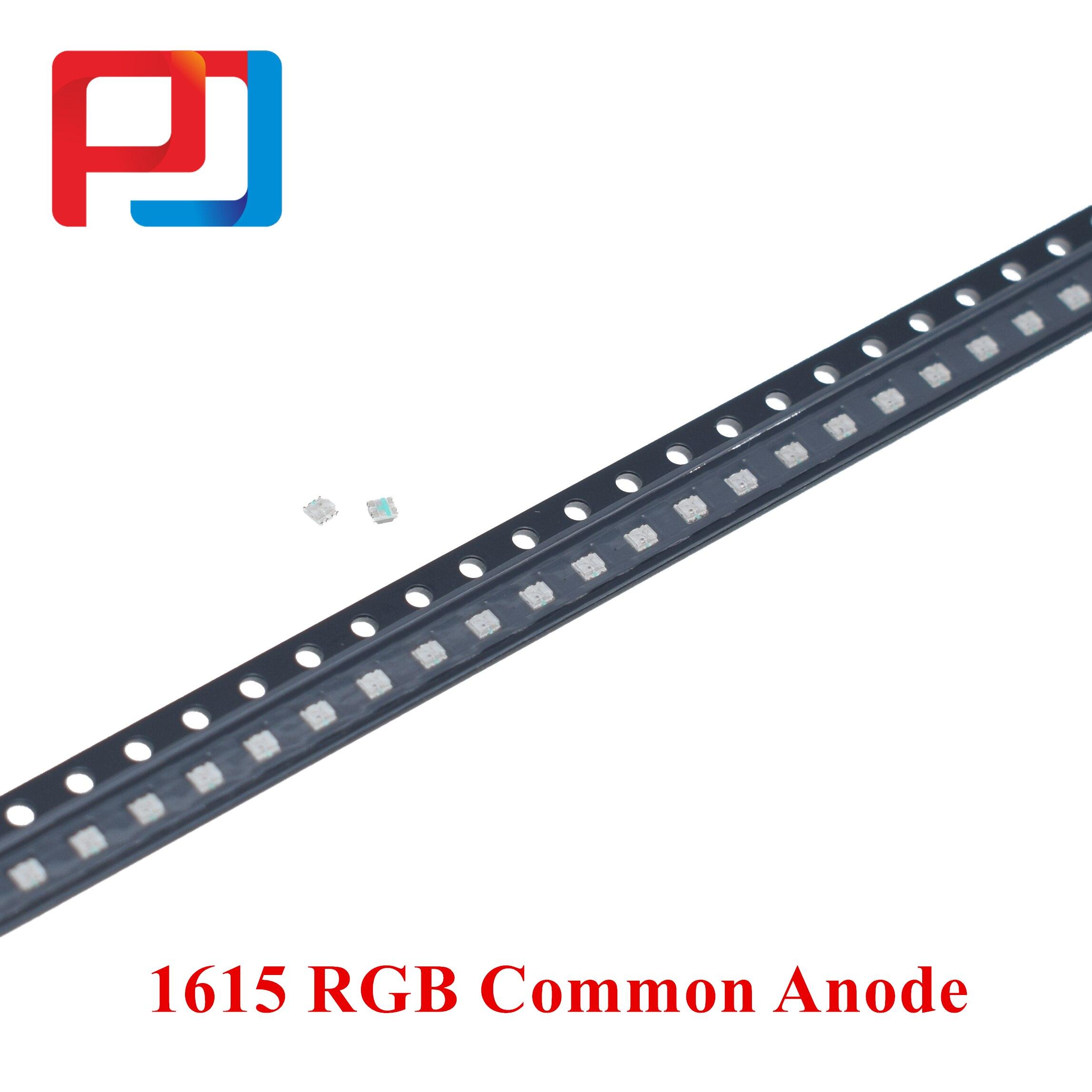 500 Uds./lote SMD 0603 0606 1615 1616 RGB a todo Color 0805 rojo/verde/azul Led de ánodo común XIASONGXIN luz 1,6*1,6*0,6mm diodo LED