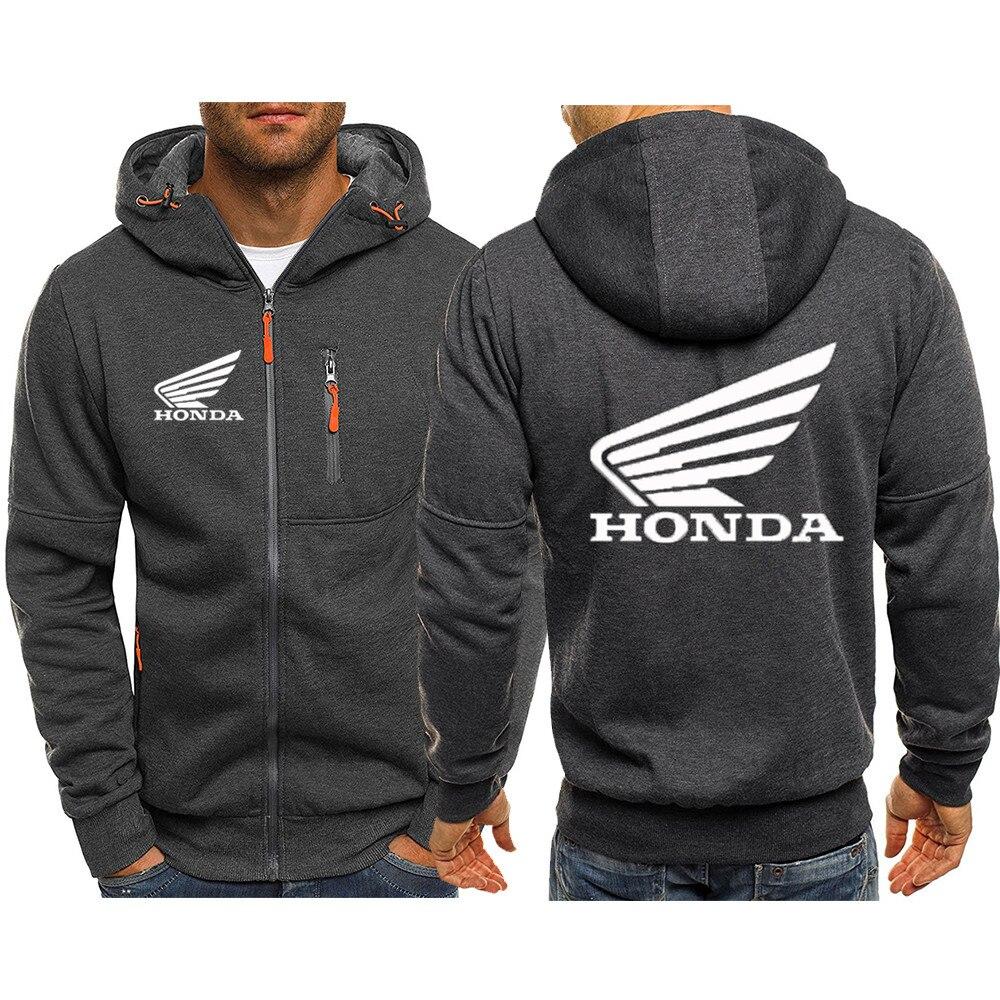 2021 демисезонная Мужская толстовка Honda Car, спортивная куртка, повседневная толстовка на молнии, мужская спортивная одежда, модная куртка, Муж...