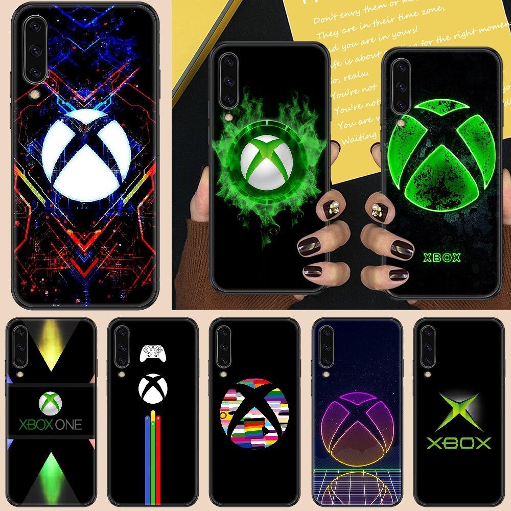 Games-XBOX Phone case For Samsung Galaxy A 3 5 7 8 10 20 21 30 40 50 51 70 71 E S 2016 2018 4G black art cell cover fashion