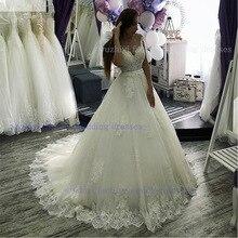 Wuzhiyi princesse robe de mariée découpé robe de mariage illusion robe sexy fermeture éclair dos vestido de noiva personnaliser robe de mariee