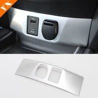 car inner cigarette lighter aux usb cover trim stickers shell 2014 15 16 17 2018 for nissan qashqai j11 interior accessories