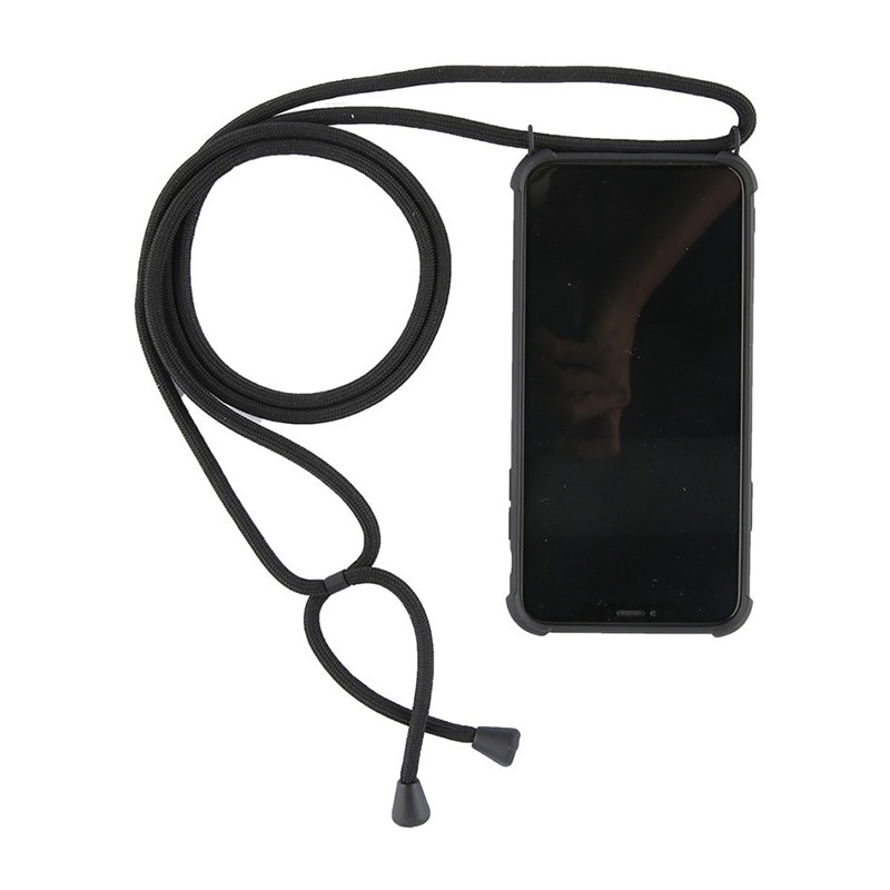 Silicone Necklace Phone Case For iPhone 11 Pro XS Max XR X 7 8 6 Plus Crossbody Chain Lanyard Case Cover with Strap Cord Rope