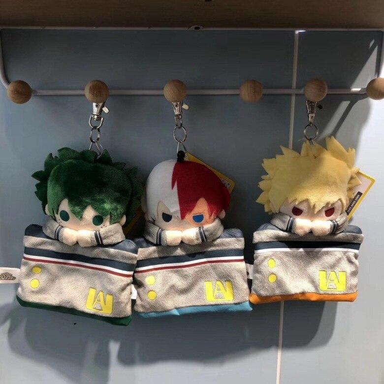 Anime Mein Hero Wissenschaft Izuku Katsuki Shouto Plüsch anhänger spielzeug geldbörse karte tasche keychain Weiche Angefüllte puppen anhänger Geschenk 15cm