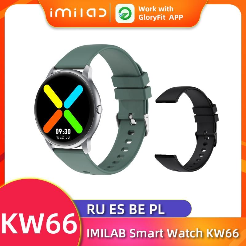 KW66 ساعة ذكية للنساء الرجال Smartwatch بلوتوث 5.0 ساعة ذكية es معدل ضربات القلب الرياضة جهاز تعقب للياقة البدنية IP68 مقاوم للماء SmartWatchs