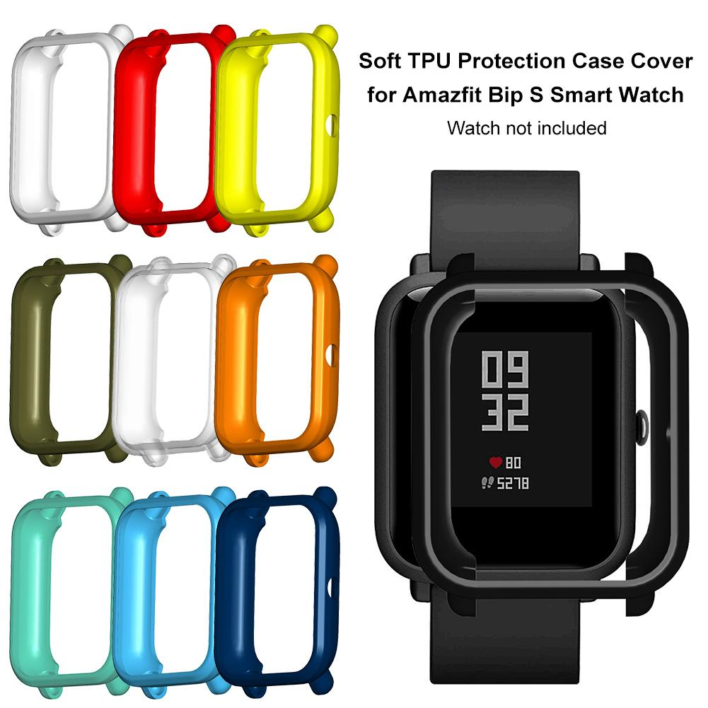 Rondaful Soft TPU Protection Silicone Case Cover For Huami Amazfit Bip S Watch SmartWatch Watachband Sporting Goods Accessories