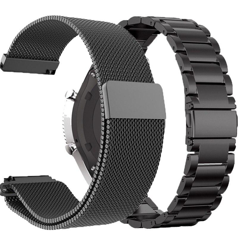 18mm 20mm 22mm strap for Garmin Vivoactive 3 4 4S stainless steel watchband bracelet for Forerunner 245 645 metal bands