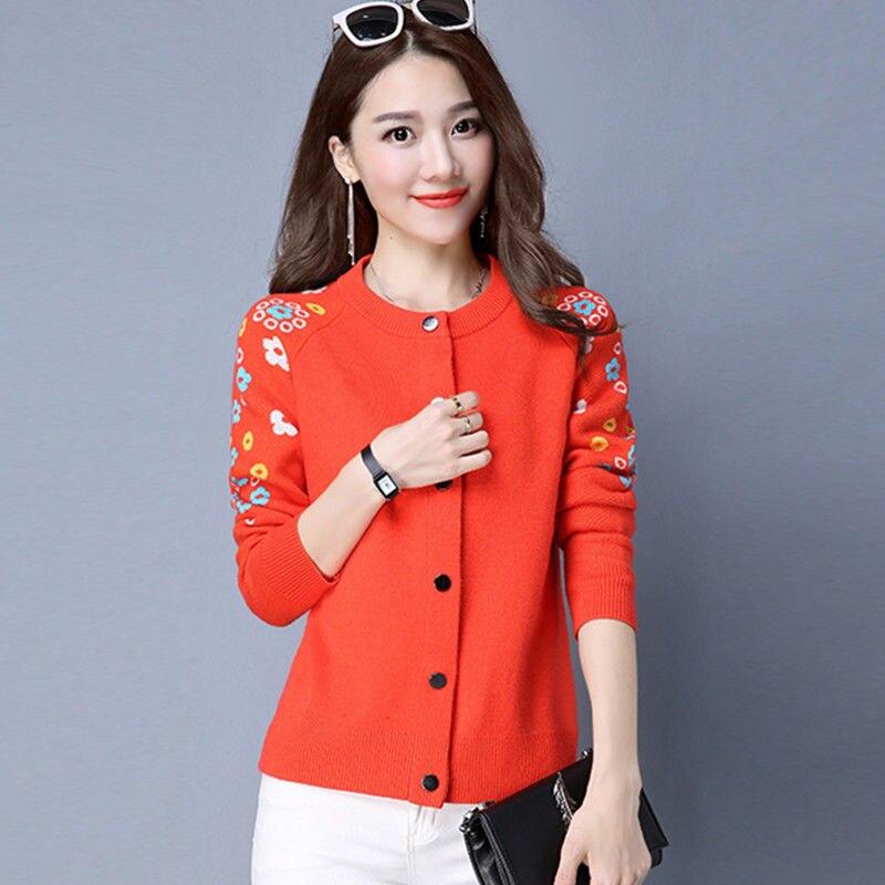 Spring and autumn 2020 new Korean knitwear cardigan short loose sweater women wear shawl embroidery versatile coat enlarge