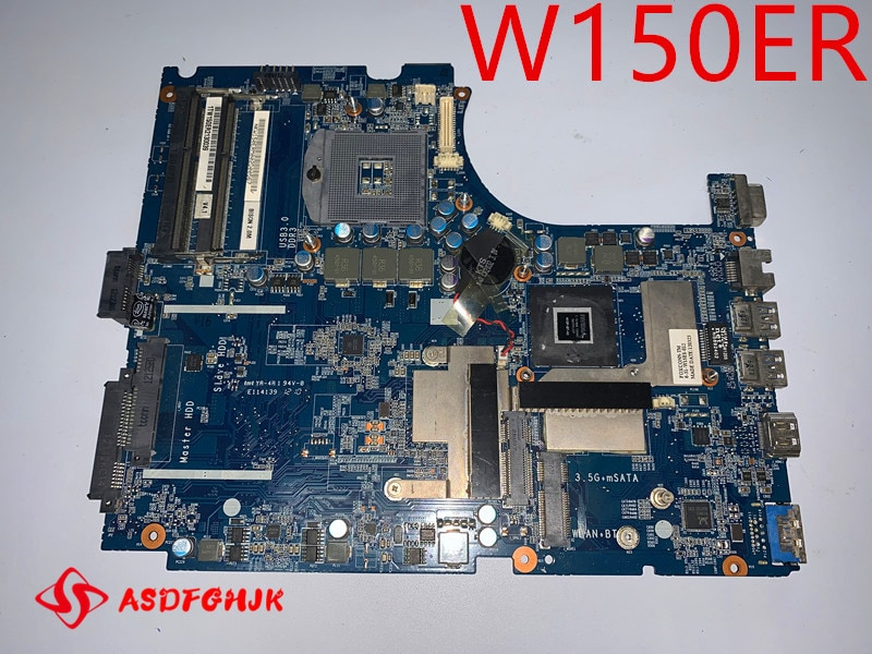 Original Laptop Motherboard 6-71-w15e0-d04 FOR Hasee Raytheon CLEVO W150er motherboard  tested good free shipping