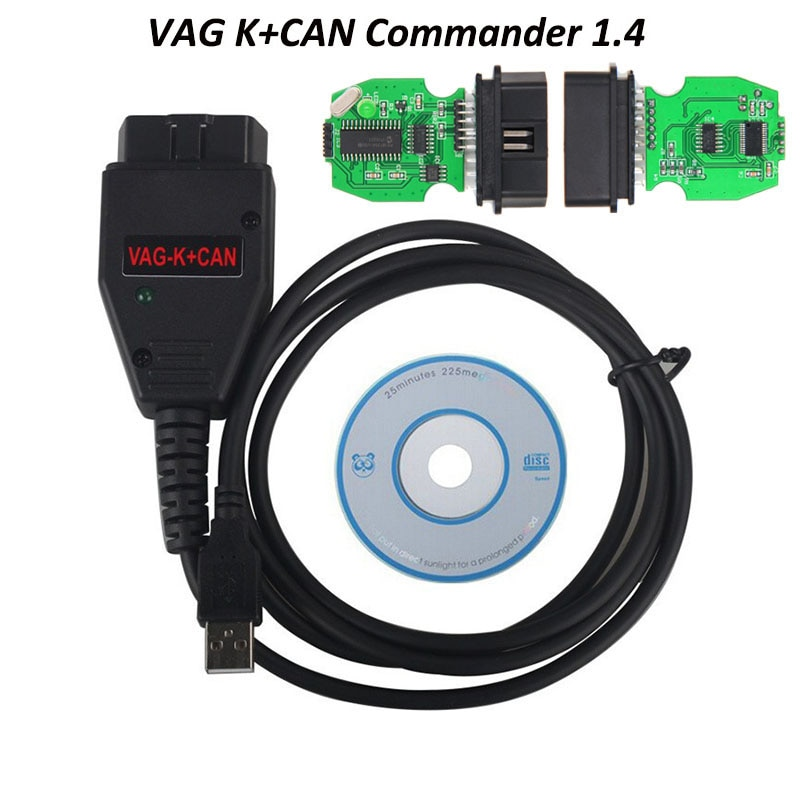 VAG K CAN Commander 1,4 obd 2 OBDII herramienta de escáner de diagnóstico de Cable para V-W/s-eat/s-k-oda/A-D Vag Commander