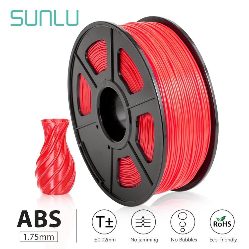 Filamento de impresora 3D SUNLU ABS 1,75mm extruido para niños, herramientas de bolígrafo 3D Scibble, filamento ABS para impresora de 1KG/2,2 libras con bobina