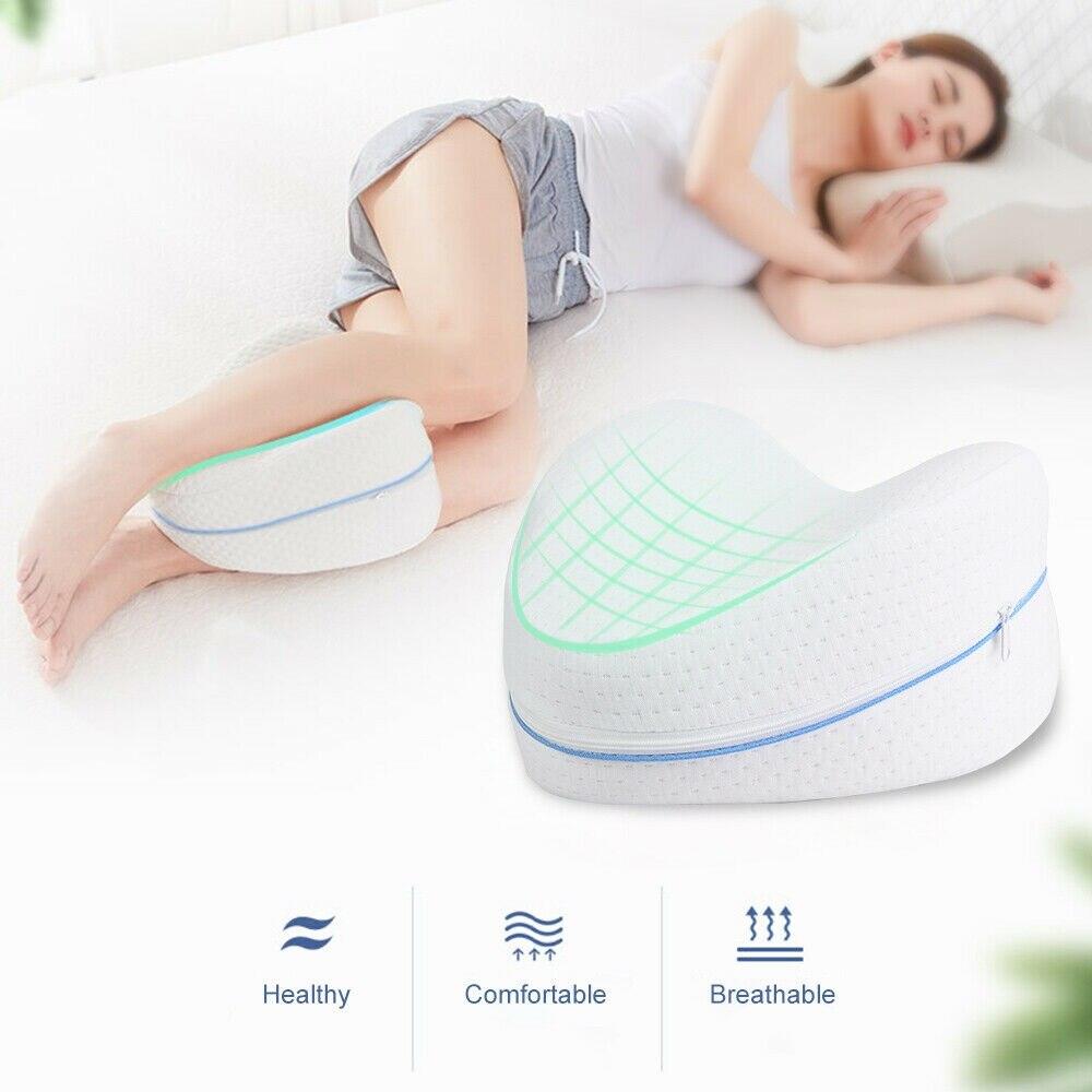 Pregnancy Body Memory Foam Pillow Orthopedic Knee Leg Wedge Foot Cushion for Side Sleeper Sciatica R