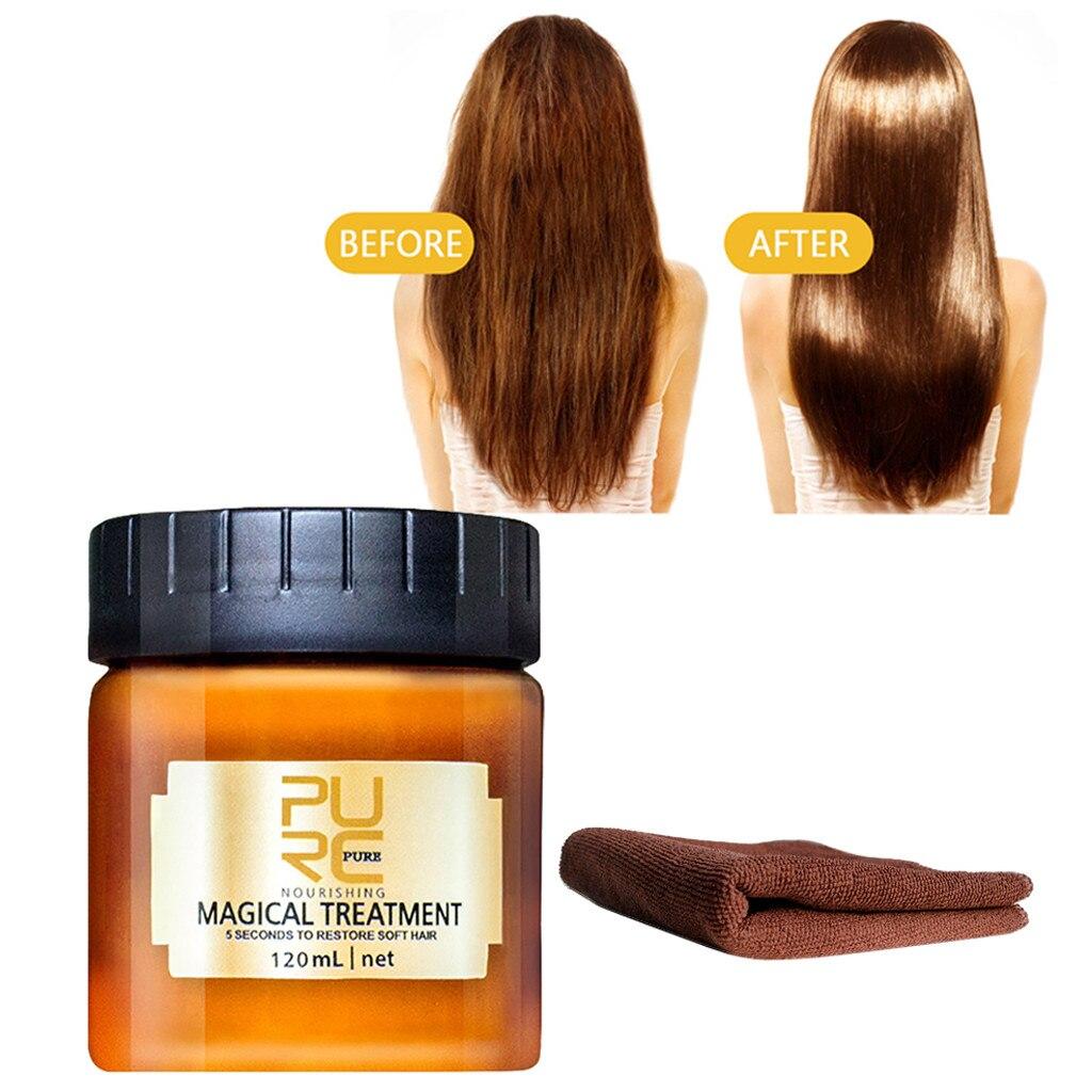 Tratamiento mágico nutritivo puro 120ML cabello desintoxicante máscara para el cabello toalla avanzada Molecular cabello raíces cuero cabelludo tratamiento cuidado del cabello