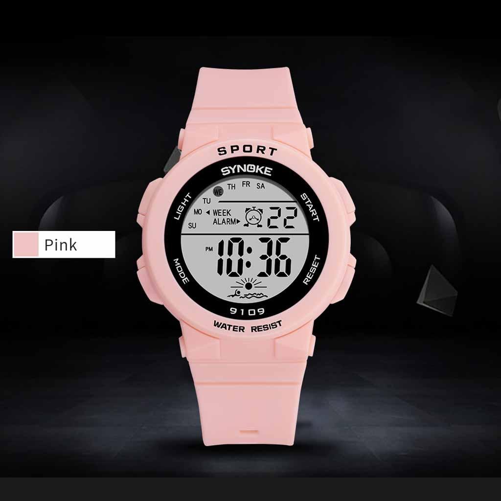 Reloj de silicona y goma electrónico multicolor luminosos de moda para estudiantes, reloj informal para niños, relojes de regalo #10