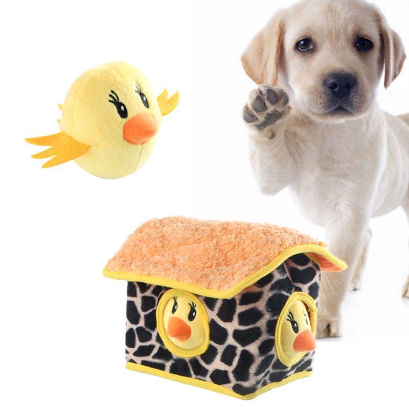 Juguete para mascotas, peluche, forma de pollo, escondite, rompecabezas interactivo para perros, juguetes para masticar, C63B