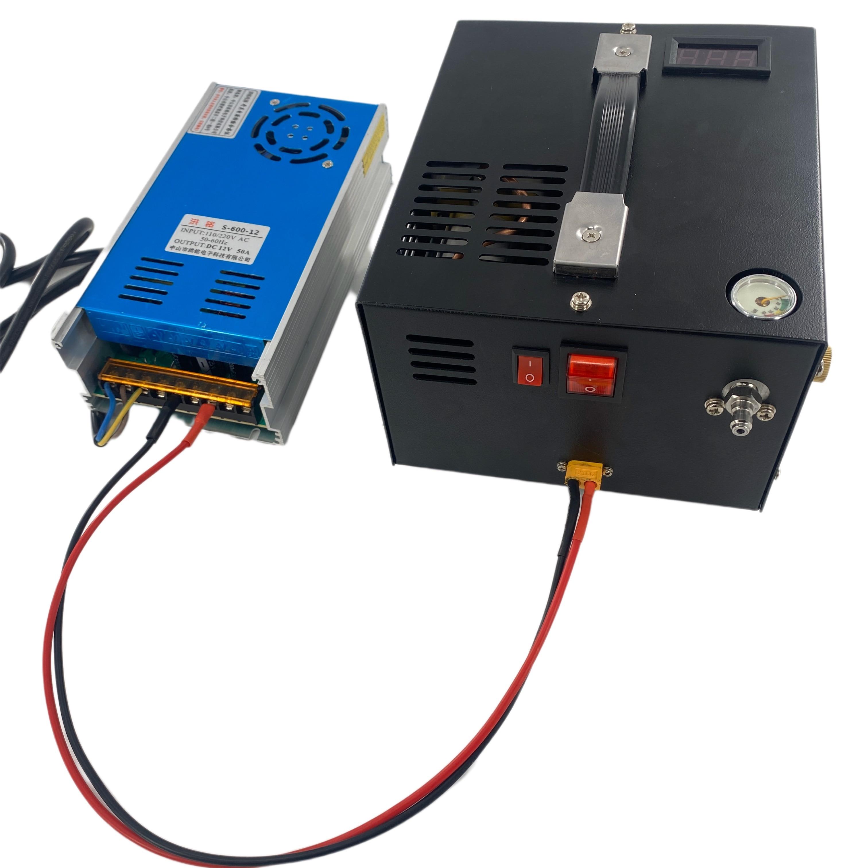 ضاغط بضغط 300 بار 30mpa 12 فولت pcp مع محول 110/220 فولت ضاغط بضغط 12 فولت pcp ضاغط 4500psi