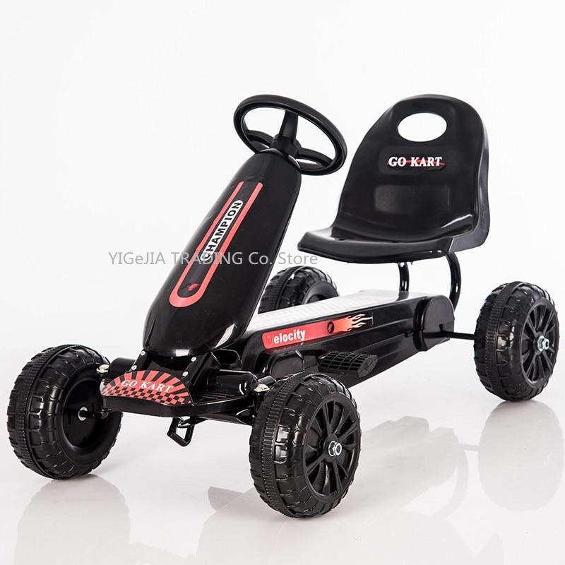 Pedal para niños de 4 ruedas Go Kart, Pedal para niños Go Kart con ruedas sólidas EVA
