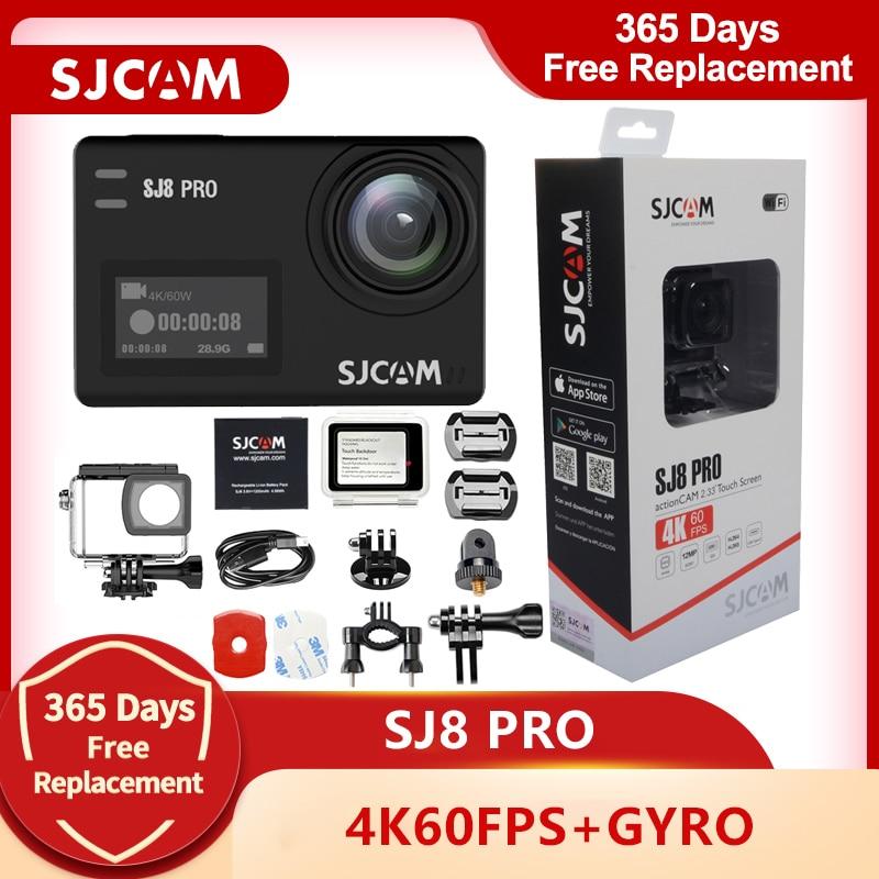 SJCAM SJ8 برو عمل كاميرا 4K 60FPS واي فاي عن بعد كاميرا خوذة Ambarella شرائح 4K @ 60FPS الترا HD المتطرفة الرياضة كاميرا الفيديو الرقمية