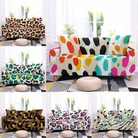 leopard sofa covers for living room modern elastic sectional l shaped corner couch cover slipcovers protector 1234 seater