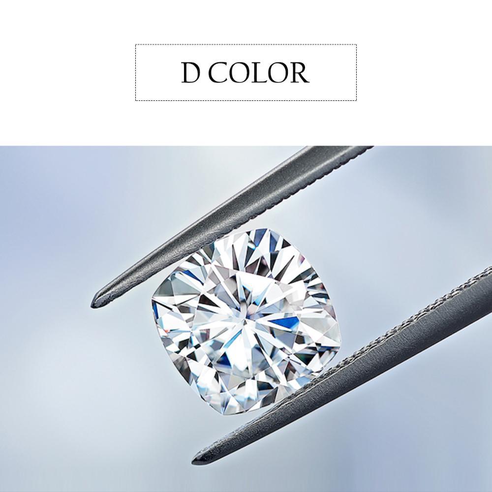 Szjinao Real 100% أحجار كريمة مفكوكة مويسانيتي الماس CVD 3ct 8.5 مللي متر D اللون VVS1 مختبر نمت أحجار بمقطع مشابه لشكل الوسائد لسوار خاتم الماس
