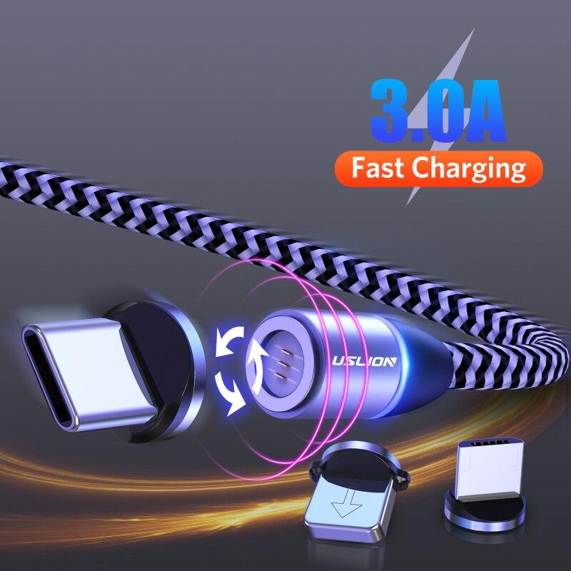 Cable USB magnético, carga rápida, Cable USB tipo C, cargador magnético, carga de datos, Cable Micro USB, Cable de teléfono móvil, Cable USB TXTB1