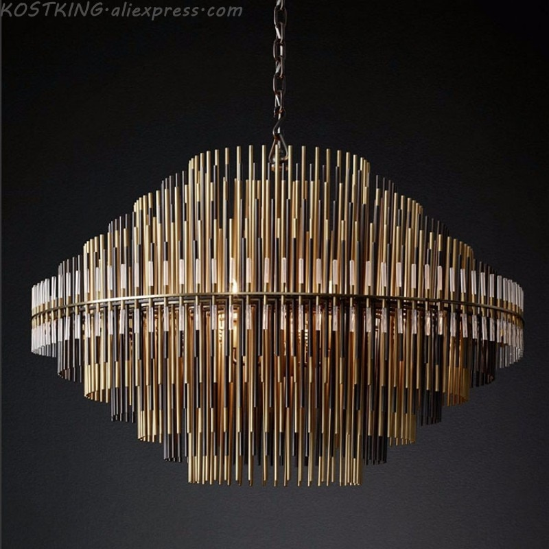 RH post-modern chandelier simple personality artistic creativity luxury hotel villa club model room chandelier