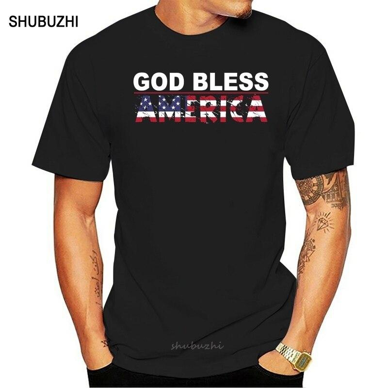 Deus abençoe américa camisetas originais para sua personalidade original do vintage o pescoço camiseta