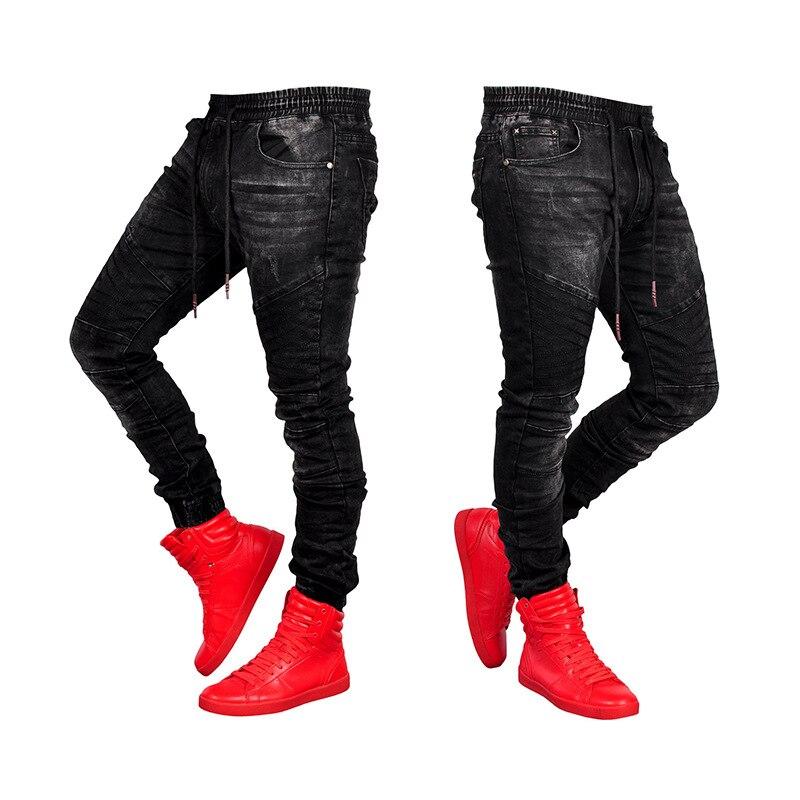 Новинка 2021, мужские классические джинсы стрейч, деловые повседневные модные джинсовые брюки, простые мужские простые джинсы на резинке