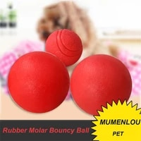 solid elastic training ball small medium and large dogs molar rubber bite resistant ball golden retriever teddy biting toy
