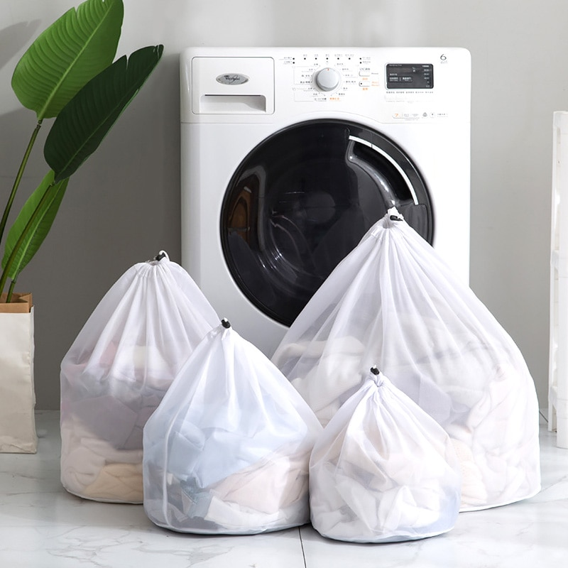 Mesh Laundry Bags Foldable Clothing Care Protection Net Filter Underwear Bra Socks Underwear Washing Machine Wash Bags 3 Sizes s m l size washing laundry bag socks underwear washing machine clothesclothing care foldable net filter underwear bra protection