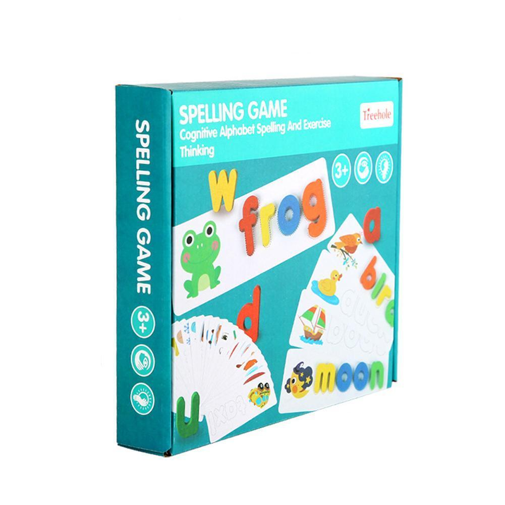 English Alphabet Letters Wood Early Education Cognitive Words Spelling Practice Word Spelling Game Toys For Children