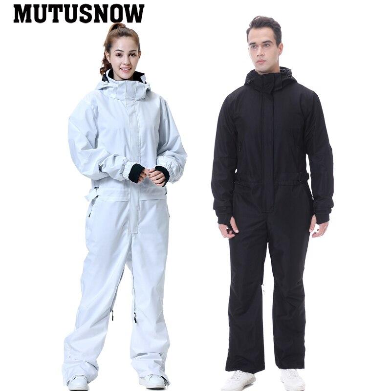 2020 Новый комбинезон женский Сноубординг водонепроницаемый высокое качество мужской цельный лыжный костюм куртка и брюки зимние уличные зи...