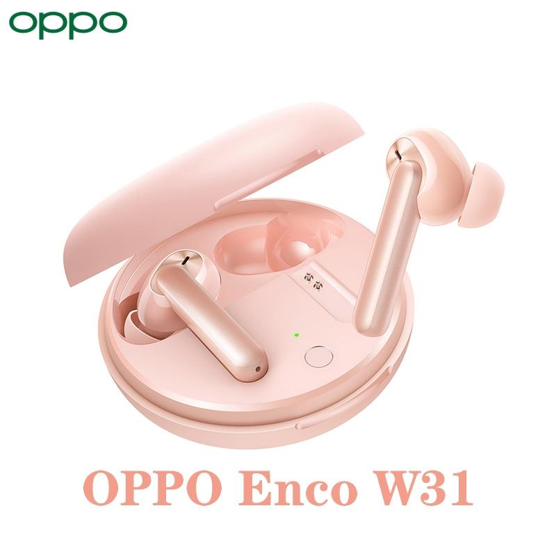 OPPO Enco W31 صحيح الرياضة اللاسلكية الحد من الضوضاء بكلتا الأذنين سماعات أذن داخل الأذن