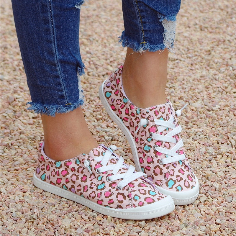 Кроссовки с круглым носком, на шнуровке, х/б