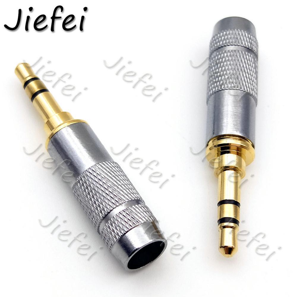 100 قطعة مطلية بالذهب ستيريو 3.5 مللي متر إصلاح سماعة كابل توصيل موصل الصوت جديد