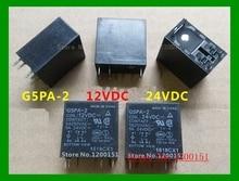 2pcs/lot G5PA-2 G5PA-2-12VDC 12VDC G5PA-2-24VDC 24VDC 5A relay DIP-6