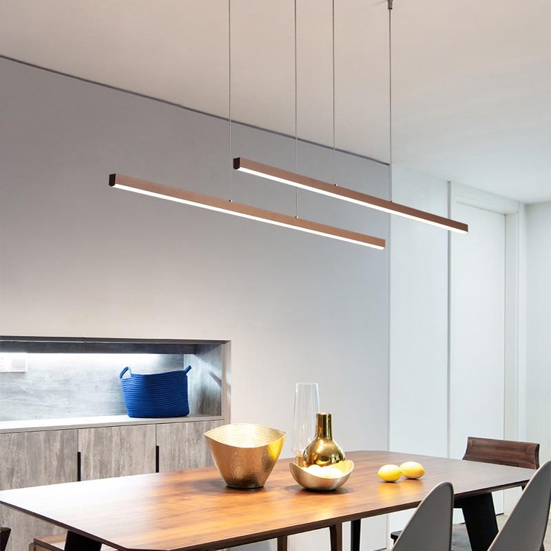 Modern LED Pendant Lights Office Hang Lamp For Living Room Foyer Coffee Adjustable Lighting Luminaria Nordic Dining room Lamp