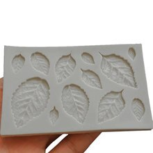 1PC Home Küche Backen Werkzeuge Kuchen Form Blatt Silikon Fondant Kuchen Dekoration Werkzeug Schokolade Party Silikon Form Chocalate Form