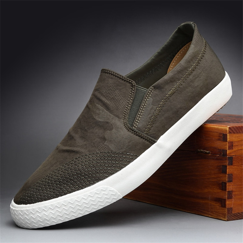 Men Loafers Shoes Male Flats Breathable Anti Slip Shoes Men Canvas Shoes Man Black Green Sneakers Hommes Vulcaniser Chaussures pointed metal toe low top hommes chaussures leather slip on loafers heel masculino gold metal decor men shoes leisure male shoes