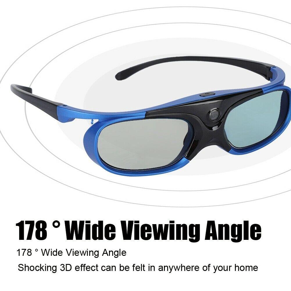 Uso doméstico ativo obturador lcd chip visual óculos 3d com bateria ultra claro prático dobrável fácil de usar para dlp link projetor