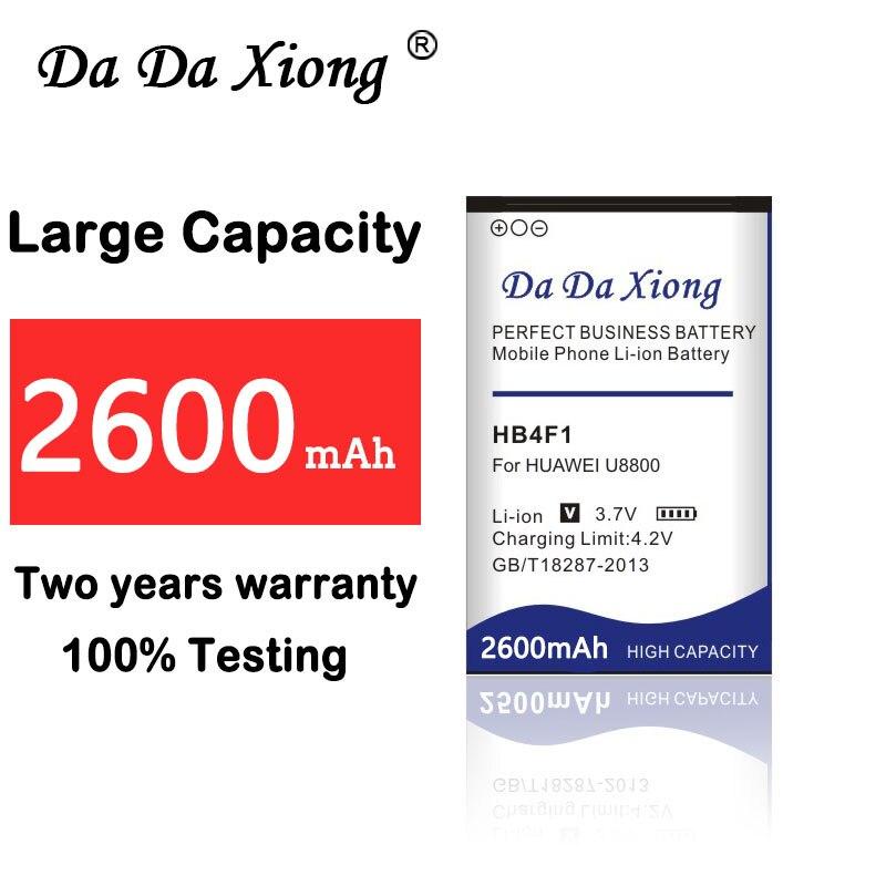 Bateria 2600mAh para Huawei U8220 HB4F1 U8230 E5830 E5838 E5 C8600 T-Mobile Pulso E585 Ascend M860 X5 u8800 C8800