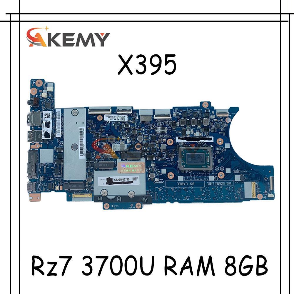 Akemy لينوفو ثينك باد X395 اللوحة الأم المحمول FA391/FA491 NM-C181 وحدة المعالجة المركزية Rz7 3700U RAM 8GB اختبار اختبار 02DM190 02DM200 02DM210