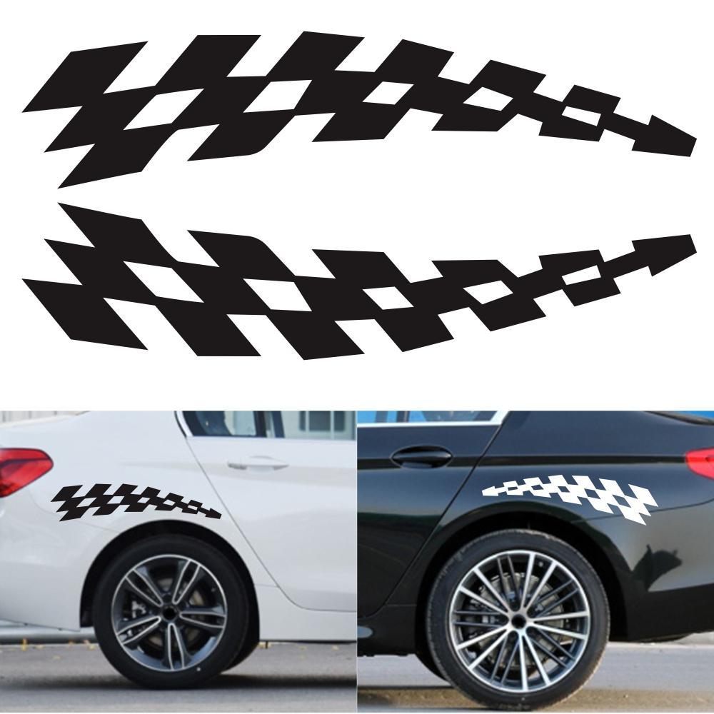 Pegatinas de carreras para coche, pegatinas de vinilo reflectoras de seguridad para...