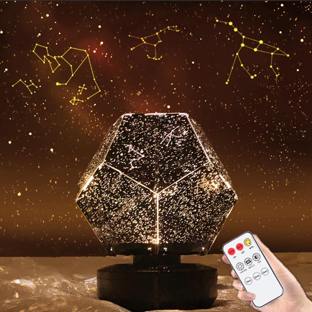 Star Projector Galaxy Lamp Light Starry Sky Night Light led Table Lamp Lite Starlight Nightlight Skylight Gift For Children Kids