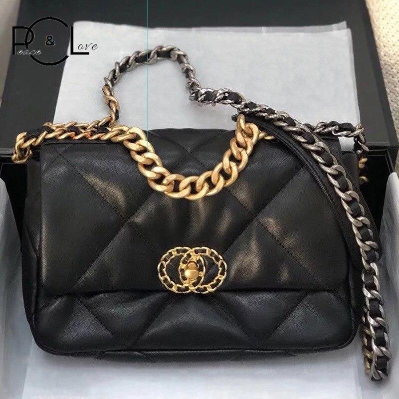 Women Bag 2020 Genuine Leather Lambskin Lingge Personality Fashion Designer Luxury New Handbag Crossbody Messenger Shoulder Bag