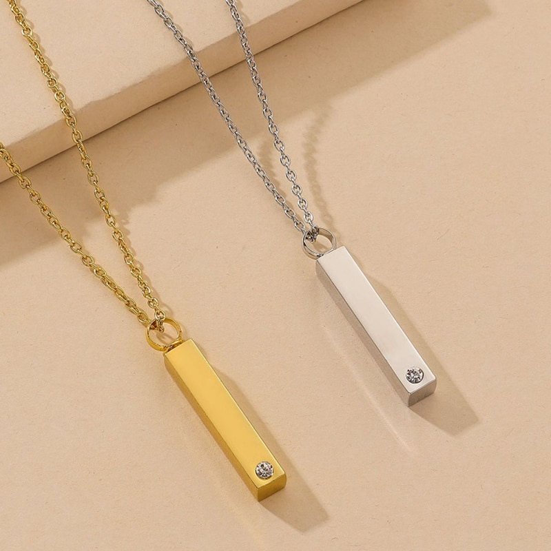 Cinerary Casket collar AAA Zirconia cúbica cilindro collares para mujeres joyería podría abrir Dropshipping