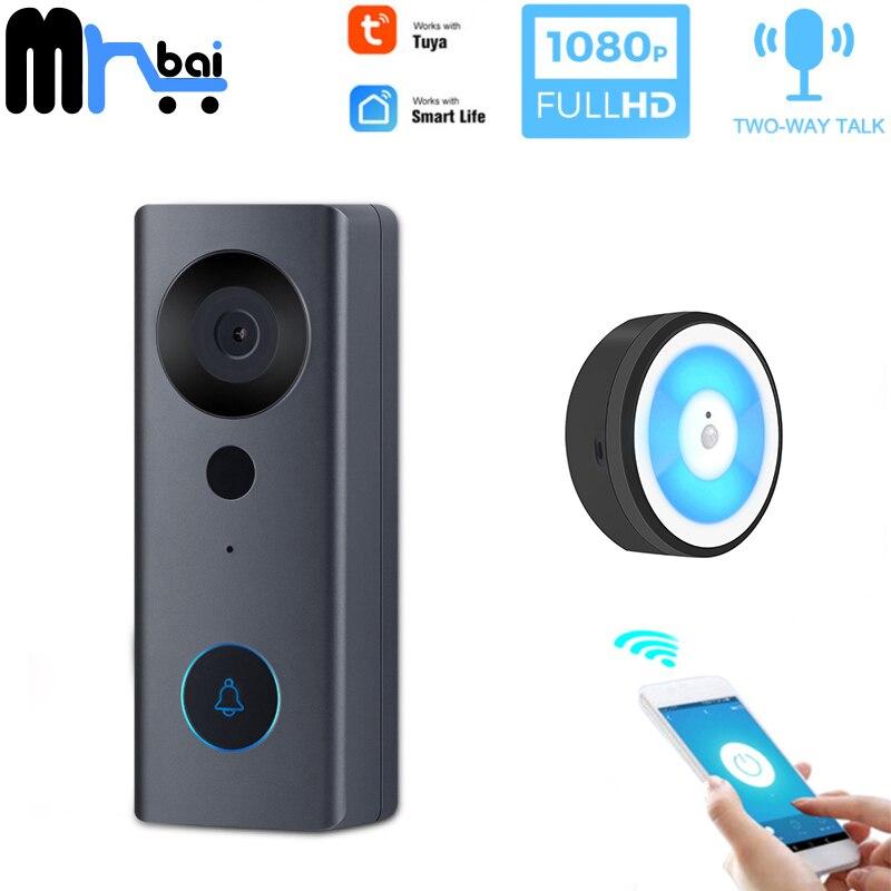 Mr. Bai WiFi Smart IP Video Doorbell 1080P Home Security System Door Bell Night Vision Intercom Door Phone With Tuya Smart Life