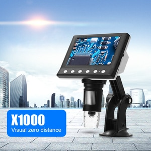 1000X 8 Digital Microscopes LED Electronic 4.3 Inch Display VGA Phone Magnifier for Easily Experiment Accessories