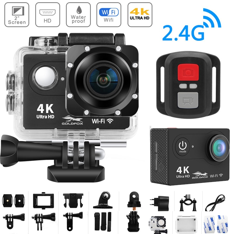 H9R 4K Action Camera Ultra HD WiFi 2 inch Screen 170D Go Waterproof Pro Camera Helmet Video Recording Action Sport Camera
