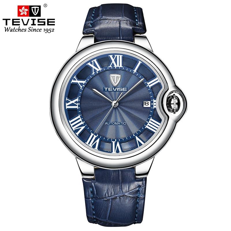 часы мужские Brand Hot New Business Sports Waterproof Men's Watch Leisure Fashion Alloy Leather Classic Mechanic Clock relogio