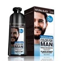 natural long lasting 200ml permanent beard dye shampoo for men beard dying removal white grey beard hair men beard dye shampoo